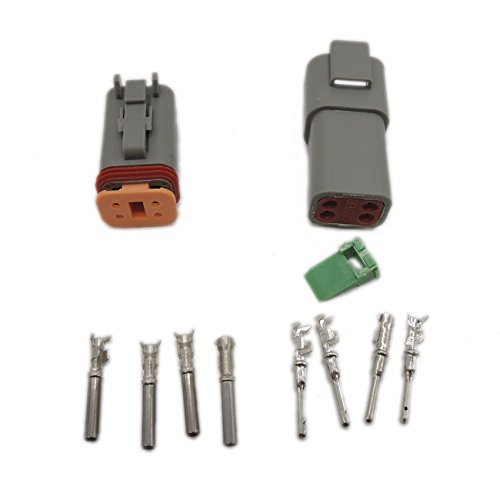 5 sets Kit DT 4 Pin Waterproof Electrical Wire Connector plug Kit 22-16AWG DT06-4S DT04-4P Ogry