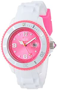 Ice-Watch Ice-White - Reloj (Reloj de pulsera, Unisex, Poliamida, Rosa, Silicona, Blanco)