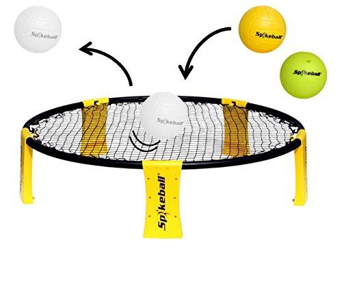 Spikeball Set - Outdoor & Indoor Fun Ballspiel inkl. 2 Spikebällen (1x Glow in the Dark Ball & 1x Spikeball)