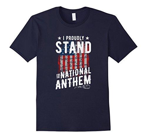 Mens I Stand For The National Anthem T-Shirt USA Flag Large - Anthem At Shops