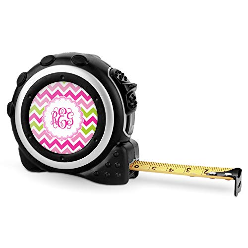 (Pink & Green Chevron Tape Measure - 16 Ft (Personalized))