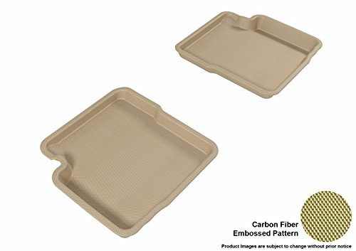 3D MAXpider Second Row Custom Fit All-Weather Floor Mat for Select Fiat 500 Models – Kagu Rubber (Tan)