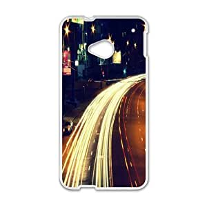 City night street scenery Phone Case for HTC One M7
