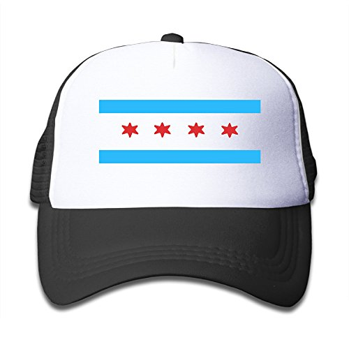 Cap Cloth Youth (Chicago Flag Trucker Hat Adjustable Back Mesh Cap For Child)