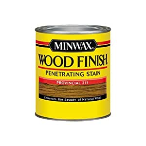 Minwax 70002444 Wood Finish Penetrating  Stain, quart, Provincial