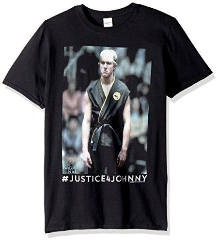 (American Classics Unisex Karate Kid Justice for Johnny Adult Short Sleeve T-Shirt, Black)