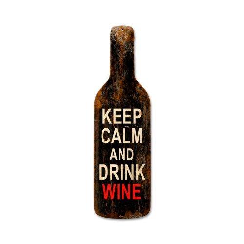 Victory Vintage Home - Keep Calm Merlot Drink Wine Humor Custom Metal Shape - Victory Vintage Signs