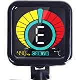 Crescendo ZenTuner Clip On Tuner, for Acoustic, Electric Guitar, Bass, Violin, Ukulele, and Chromatic Mode for All Instruments, Fast & Accurate, Easy to Read Color Display, Professional and Beginner