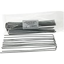 12 Inch Galvanized Garden Staples/Stakes/Pegs Heavy Duty Rust Resistant Steel...