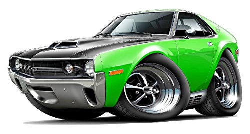 1970 AMX (Shadow Mask) WALL DECAL 2ft long Vinyl Reusable Movable Fun Stickers for Boys Classic Cartoon Cars Home (Movable Masks)