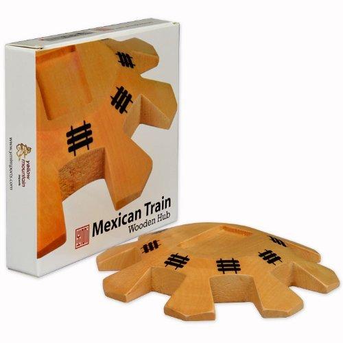 disfrutando de sus compras Wooden Wooden Wooden Hub Centerpiece for Mexican Train Dominoes by amarillo Mountain Imports  tiempo libre