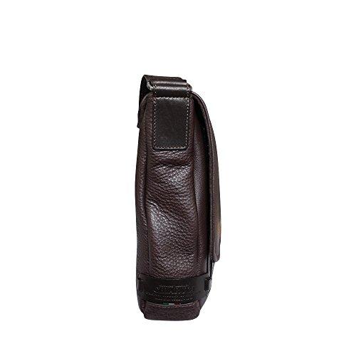 en Style Marron bandoulière cuir à marron Chiarugi City Sac italien XOqCwXx1