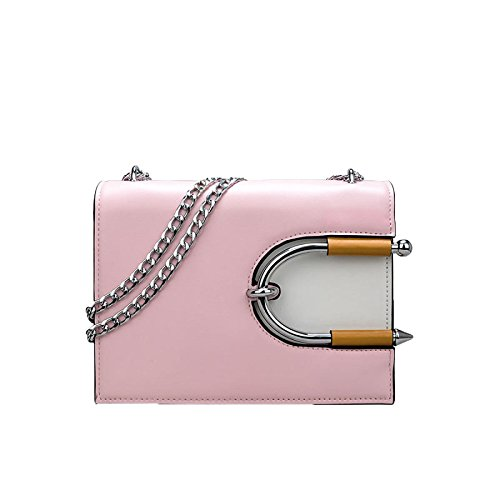Dhfud À Sac Bandoulière Buckle Pu Mode Hit Pink Crossbody Womens Main Couleur Lock 4qrB4