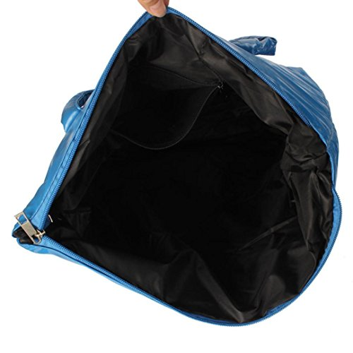 Bale 1PC Space bandoulière à noir Tonsee® Sac femmes coton clair Sac bleu Totes Girl duvet wTqExIpdZ