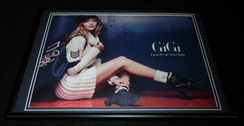 gigi-hadid-framed-12x18-original-2016-tommy-hilfiger-advertising-display