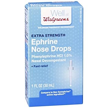 Walgreens Ephrine Nose Drops 1 fl oz (pack of 2)