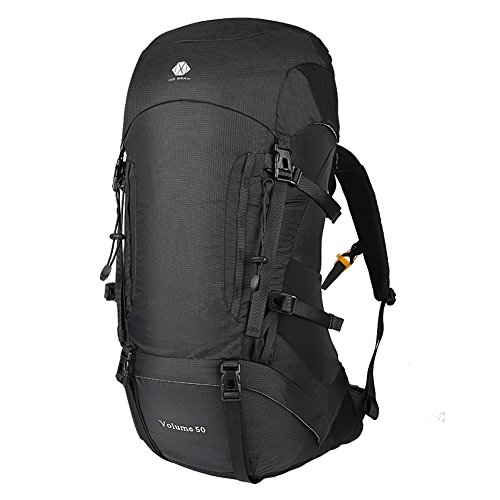 Large Internal Frame - 50L Hiking Backpack For Men and Women Lightweight and Waterproof With Internal Frame Large Ultralight Travel Outdoor Sport Camping Breathable Bag With Mesh Back Ideal for Hill Walker Camping Clibm