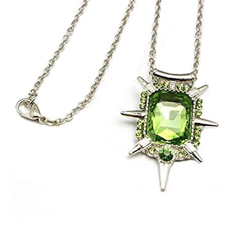Zelena Costume (Expeke Jewelry Pendant Necklace Green White (Green))