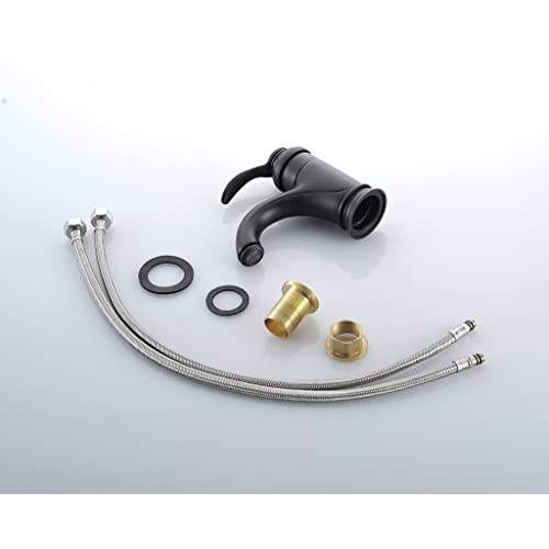 Geeenspring Home Built Brass Centerset Bathroom Sink Vessel Faucet Basin Mixer Tap,Oil Rubbed Bronze 80%OFF