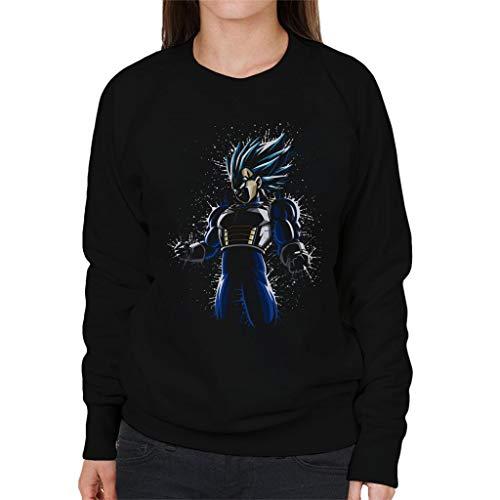 Cloud Cloud Cloud Splatter Ball City Women's Sweatshirt Black Vegeta 7 Ultra Dragon Blue Paint 8r8BqRU