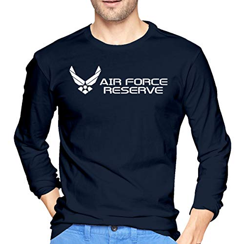 - NVSHENYU Men Long Sleeve T-Shirt Retro Cotton Air Force Reserve T-Shirt