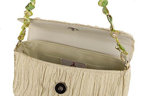 satin verde borsetta madreperla decorazioni Rebecca sottospalla in Molenaar con tWpU8UqABw