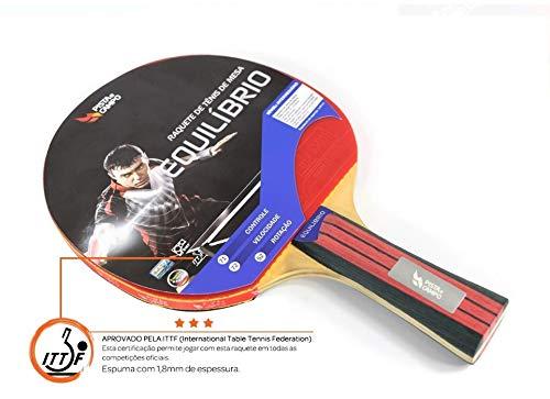 Raquete de Tenis de Mesa Equilibrio Pista e Campo - Certificacao ITTF