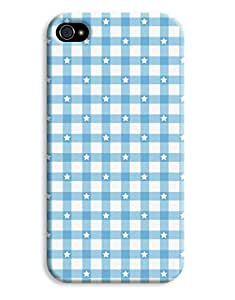 Blue Chequered Stars Case for your iPhone 4/4s