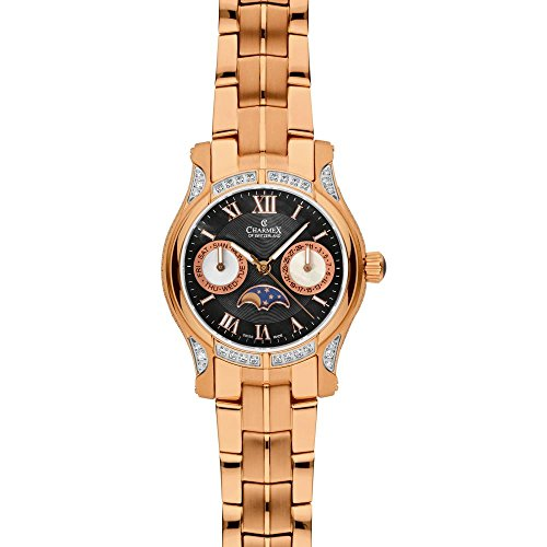 Charmex Granada 6211 31mm Gold Plated Stainless Steel Case Rose Gold Steel Bracelet Synthetic Sapphire Women's Watch