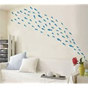 Createforlife Home Decoration Vinyl Wall Sticker Decals Mural Art Sea Numbers of Fishes