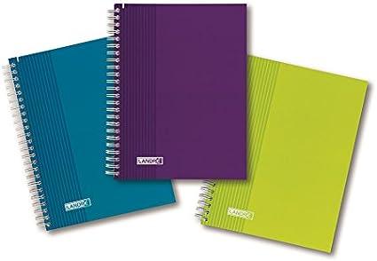 Landre 400043996 Collegeblock tendencia, además A5, 70 g/m², 80 hojas, 5- pack, a cuadros con rand: Amazon.es: Oficina y papelería