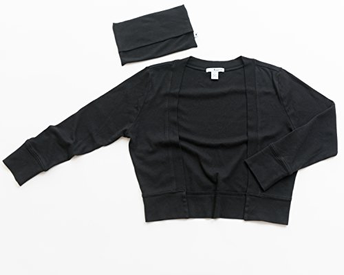Secret Sweater Women's Packable 'Secret' Layering Cardigan M Black by Secret Sweater (Image #7)
