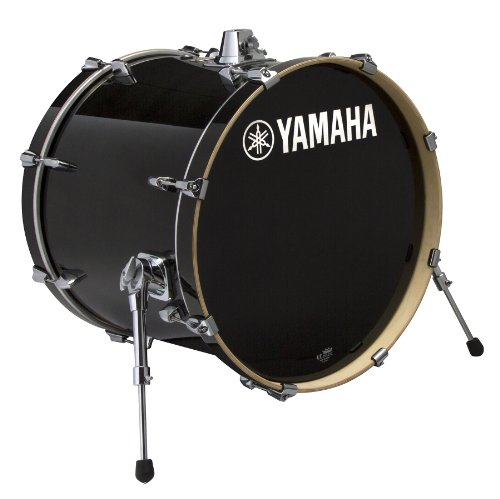 Yamaha Stage Custom Birch 18x15 Bass Drum, Raven Black (Yamaha Maple Custom Drums)