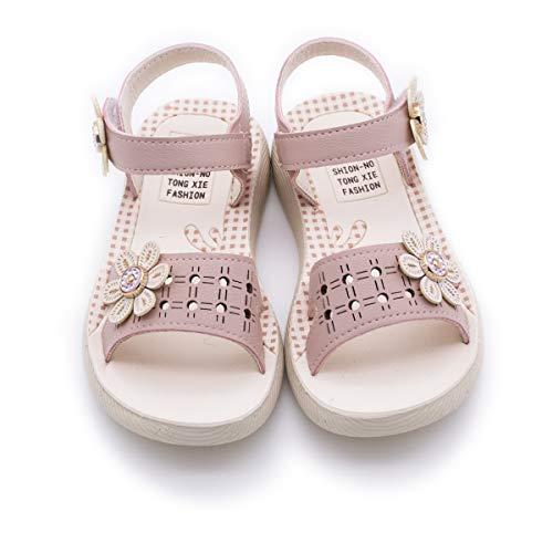 Kids Girls Beach Sandals Summer Fashion Bow Knot Princess Dress Child Shoes(Toddler/Little Kid) (12 M Little Kid, b-Dusty Pink)