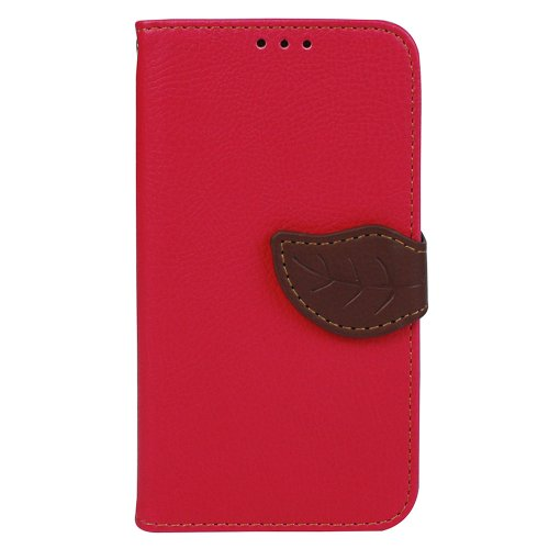 JAVOedge+Leaf+Book+Case+with+Card+Slots+for+the+Samsung+Galaxy+S5+(Red)