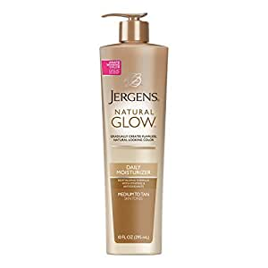 Jergens Natural Glow Daily Moisturizer for Body, Medium to Tan Skin Tones, 10 Ounce Pump