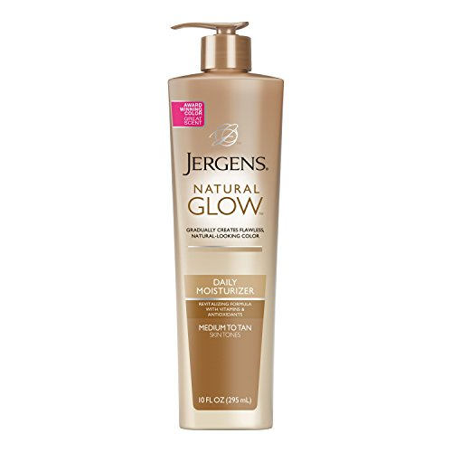 (Jergens Natural Glow Daily Moisturizer for Body, Medium to Tan Skin Tones, 10 Ounce Pump )