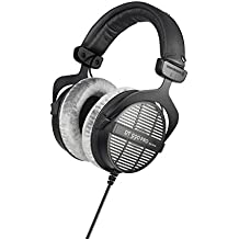 beyerdynamic DT 990 PRO Over-Ear Studio Headphones in black. Open construction, wired