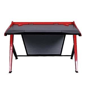 DXRacer DGD/1000/NR Newedge Edition gaming desktop office desk computer desks pc desk gaming table Ergonomic Comfortable Desk (Black/Red)