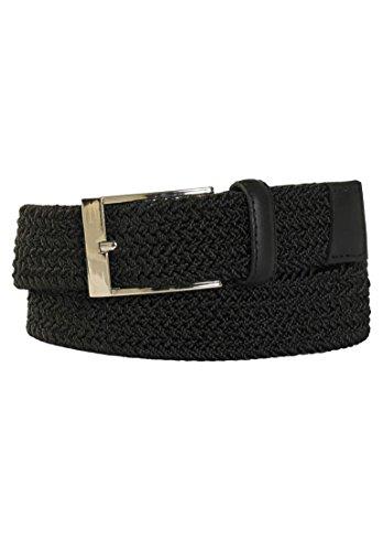 Stretch Braid (Kingsize Men's Big & Tall Elastic Braid Belt, Black 56/58)