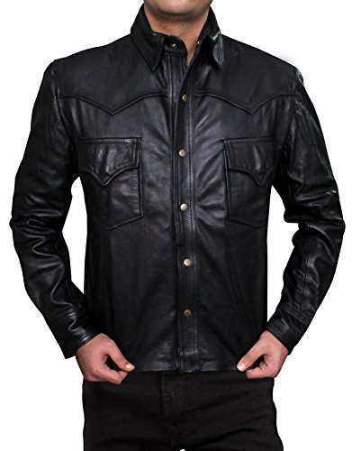 The Governor Jacket - Real Leather (2XL, Black)