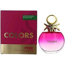 Benetton Colors Eau De Toilette Spray for Women, Pink, 2.7 Ounce