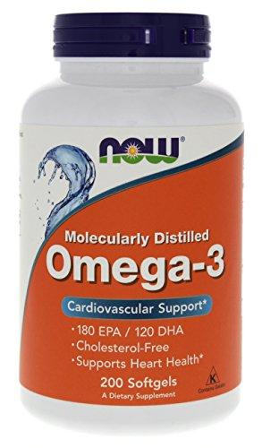 NOW Omega-3 1000mg, 200 Softgels
