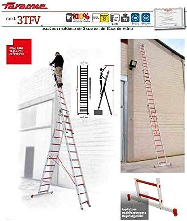 ESCALERA PROFESIONAL12+12+12 PELDAÑOS 3TFV.350 FARAONE. LCS: Amazon.es: Bricolaje y herramientas