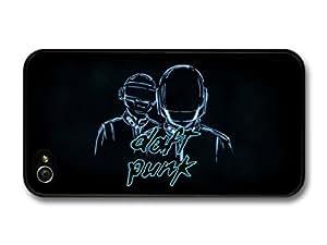 Daft Punk Blue Black Background Illustration For Apple Iphone 5C Case Cover