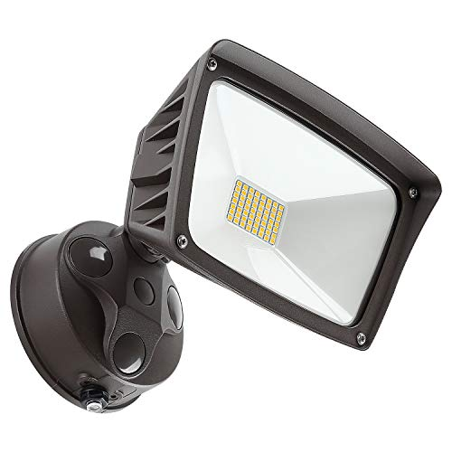 LEONLITE Dusk-to-Dawn LED Outdoor Flood Light with Photocell, 3400lm Ultra-Bright Waterproof Security Floodlight, 28W (220W Eqv.), DLC & ETL-Listed Exterior Lighting for Yard Porch, 3000K Warm White ()