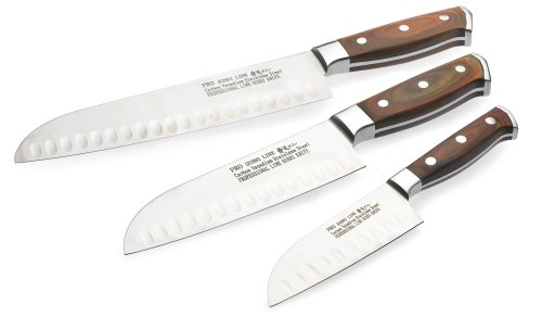 Concord Sushi Pro Line 3-Piece Santoku Knife Set