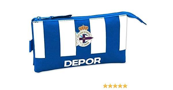 Deportivo La Coruña - Estuche Safta Escolar: Amazon.es: Equipaje