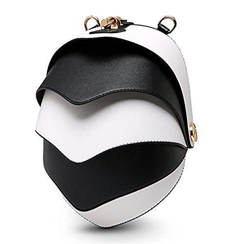 Mini a singola Dimensione a E Colore Gules Bianco mostro coreana banda colori larga piccola borsa estiva borsa a La Moontang femminile Nero tracolla ZPOWII