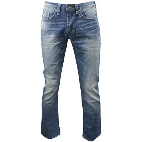 Buffalo David Bitton Men's Six Slim Staright Leg Jean, Sanded/Dirty, 32x32 - Dirty Wash Jeans